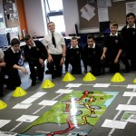 Students involved in the Transport Media Project