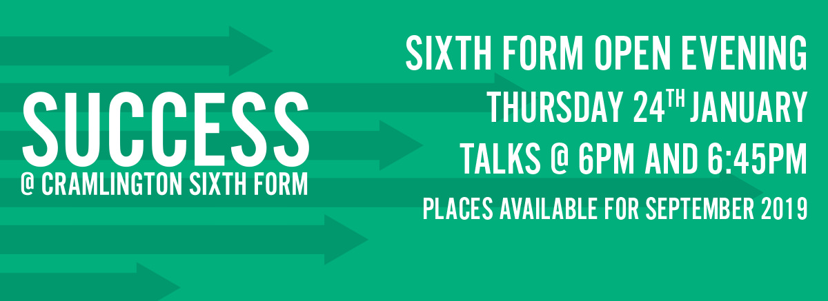 Sixth Form Open Evening Thursday 24th January from 6pm