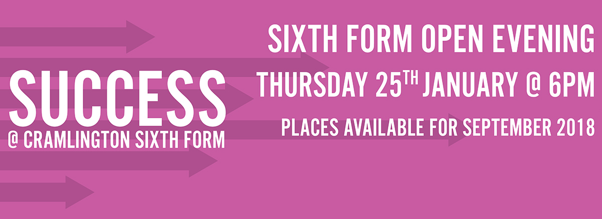 Sixth Form Open Evening Thursday 25th January from 6pm