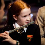 Student performing with the flute