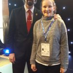 Ellie with Badminton player Nathan Robertson