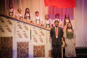 Sound of Music production - Singing on a staircase