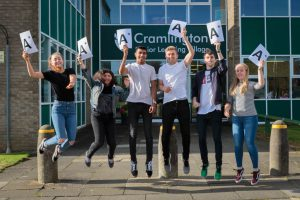 Some our of A Level Students celebrating