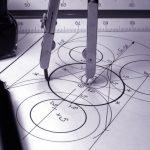 Maths compass drawing circle