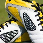 A pair of yellow football boots