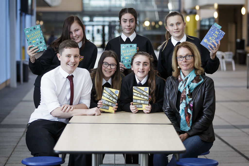 Author Susin Nielsen with Y9 CLV students and Mr Mays
