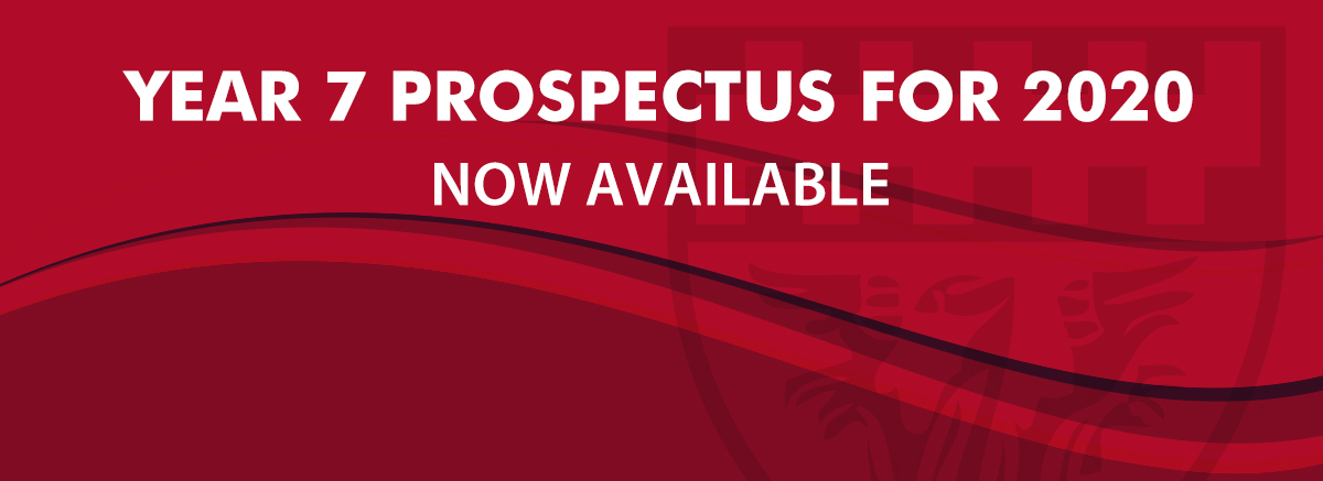 New year 7 prospectus for September 2020 now available