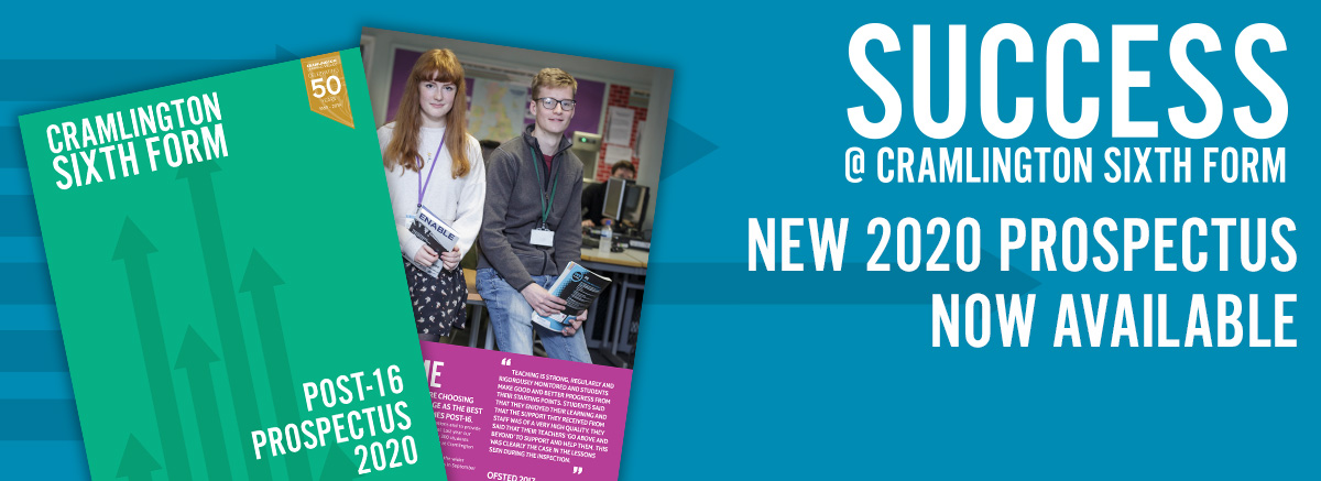 New Sixth Form Prospectus 2020 Now Available